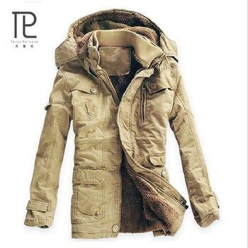 Winter Jacket Men Hooded Thick Warm Parka Mens Fashion Casual Medium-Long Windproof Overcoat Jaqueta Masculino Casaco Size 5XL#b