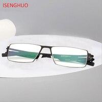 ISENGHUO IC Germany Unique No screw Design Brand Eyeglasses Frames Ultra Light Ultra thin Men/women myopia spectacle frame