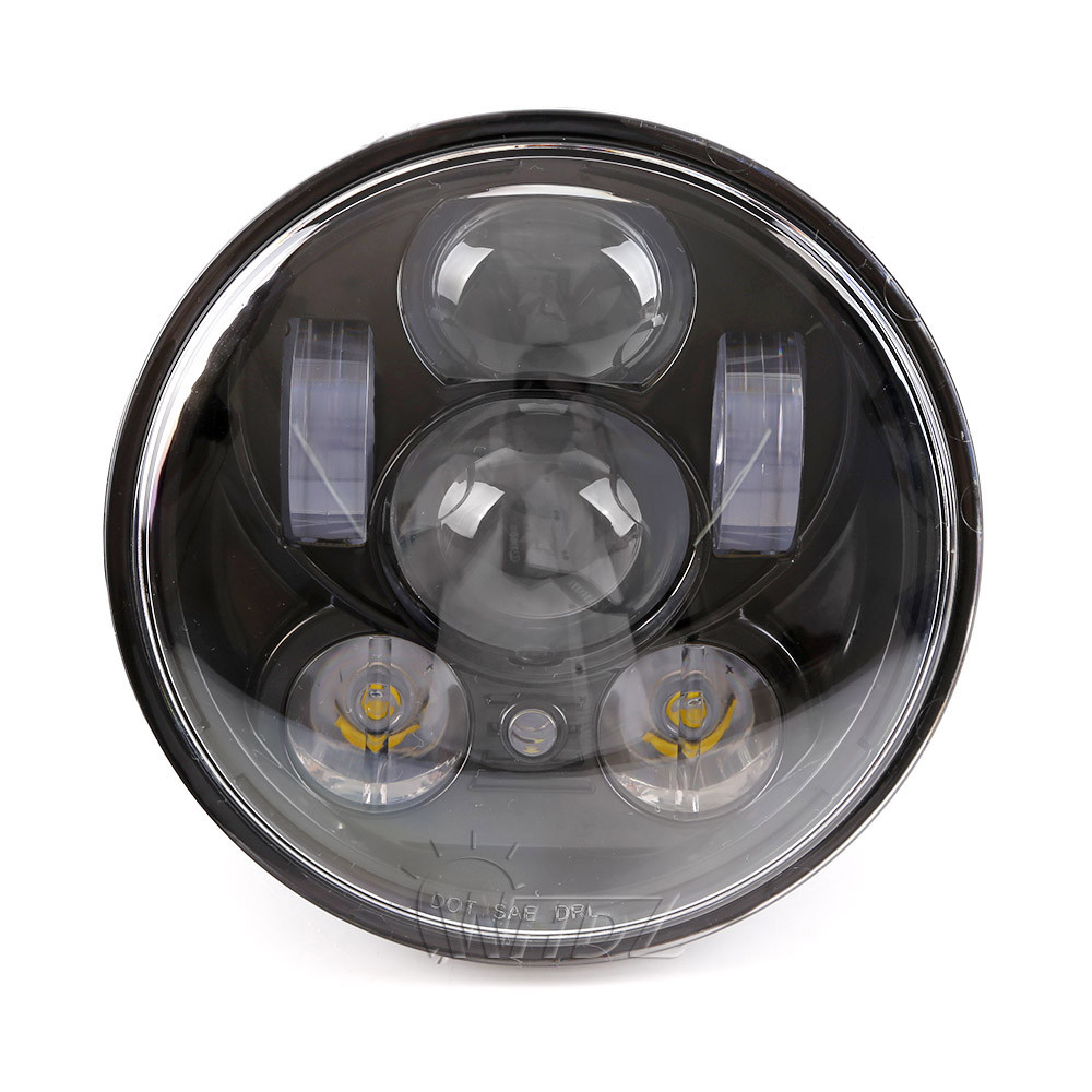 New 5.75 5-34 Inch Projector Round LED Headlight DRL for Harley Davidson Motorcycles (7)