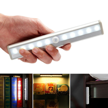 10 LED PIR Auto Motion Sensor Light Intelligent Portable infrared Induction Lamp Night Lights for Cabinet Hotel Closet