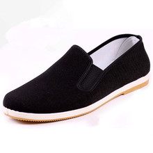 YeddaMavis Casual Shoes Men Shoes 2019 Spring Breathable Loafers Black Chinese Old Beijing Cloth Shoes Male Driver Shoes Flats lily embroidery women loafers shoes chinese style old peking mary janes button strap casual flats plus 41 dance cloth shoes
