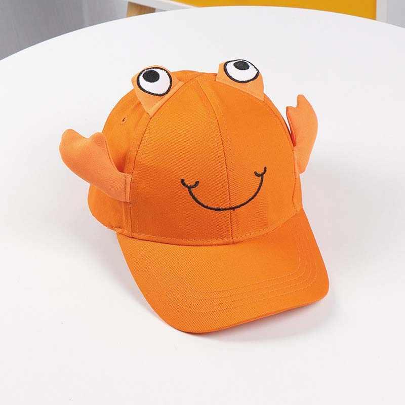 Doitbest 2 に 8 歳の子供野球キャップヒップホップ秋漫画小カニ子供太陽ハットキャップスナップバック帽子