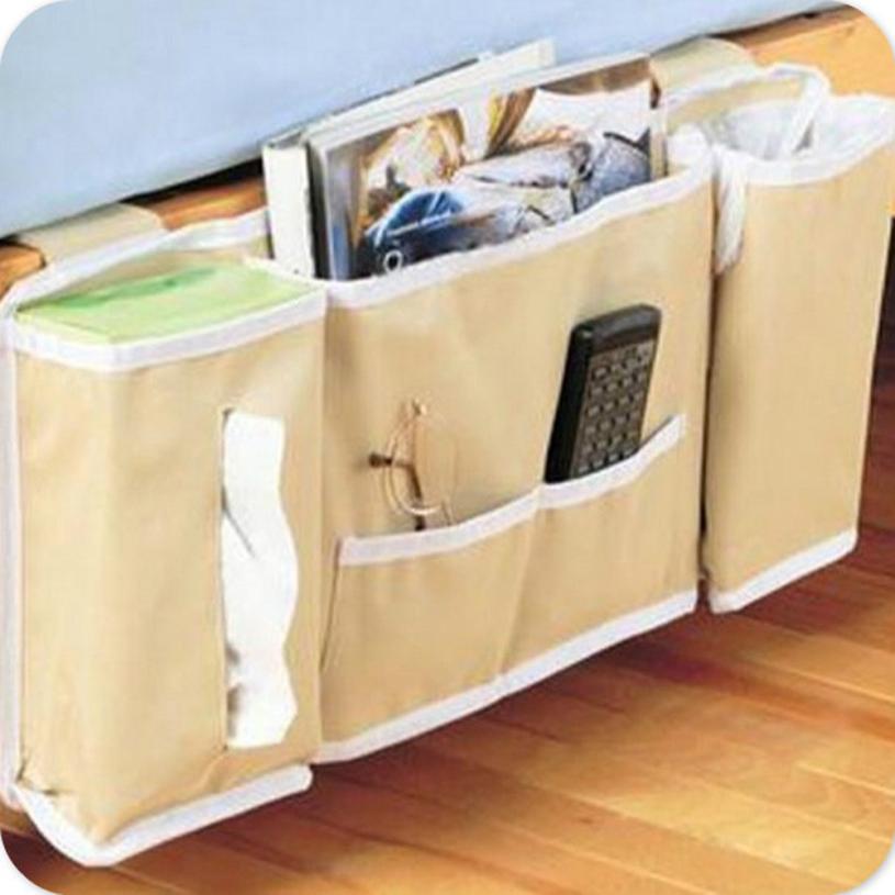 Hanging Organizers 2018 Simple Fashion New Bedside Bed Pocket Bed Organizer Hanging Bag Phone Holder Storage Bag Useful May30
