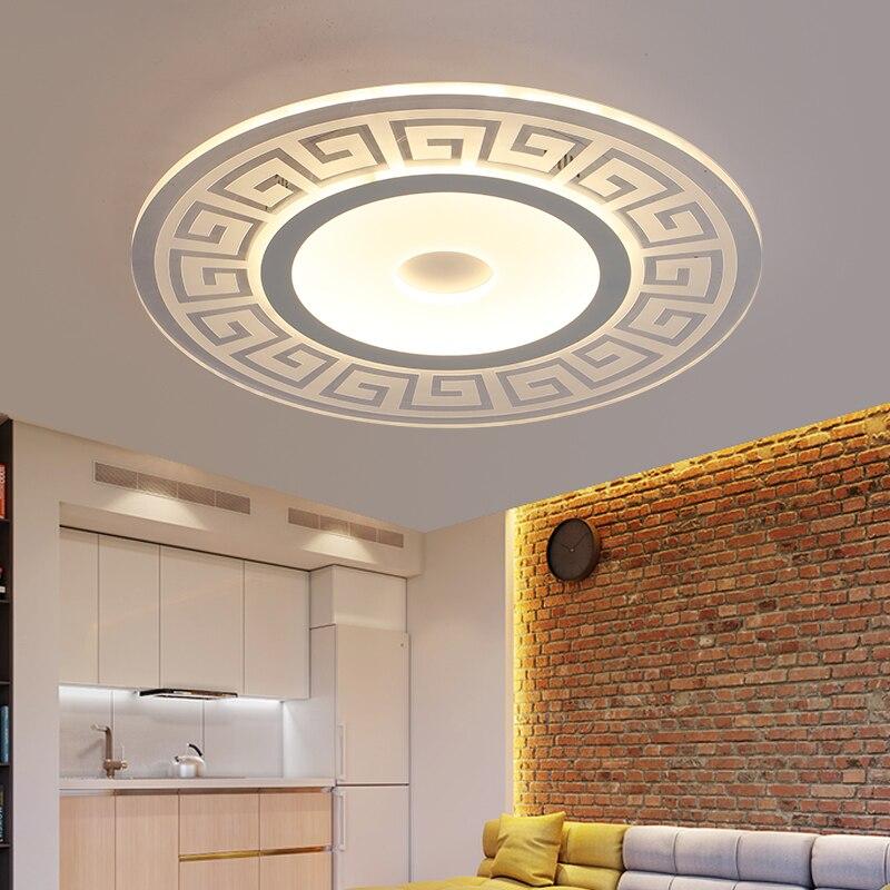 Modern Circle Indoor Lighting LED Ceiling Lights for Living Room Bedroom Lamp lamparas de techo abajur