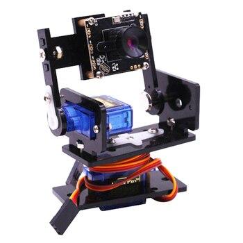 Modulo della macchina fotografica Intelligente Sensore di Visione Pan-Tilt Kit Con 2 Pcs Micro Servi Intelligente Robot HD Della Macchina Fotografica Per Raspberry pi Telecamera PTZ Versione