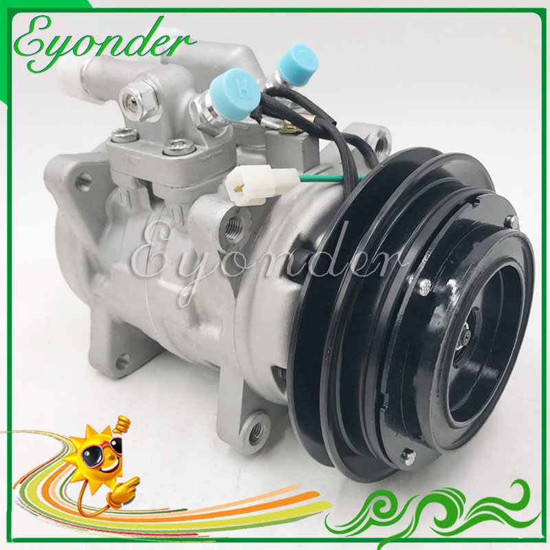 Made in China New A/C AC Air Conditioning Compressor Cooling Pump 24V 24Volt 1PK Pulley PV1for JOHN DEERE LOADER Truck TRACTOR|Fans & Kits| |  - title=