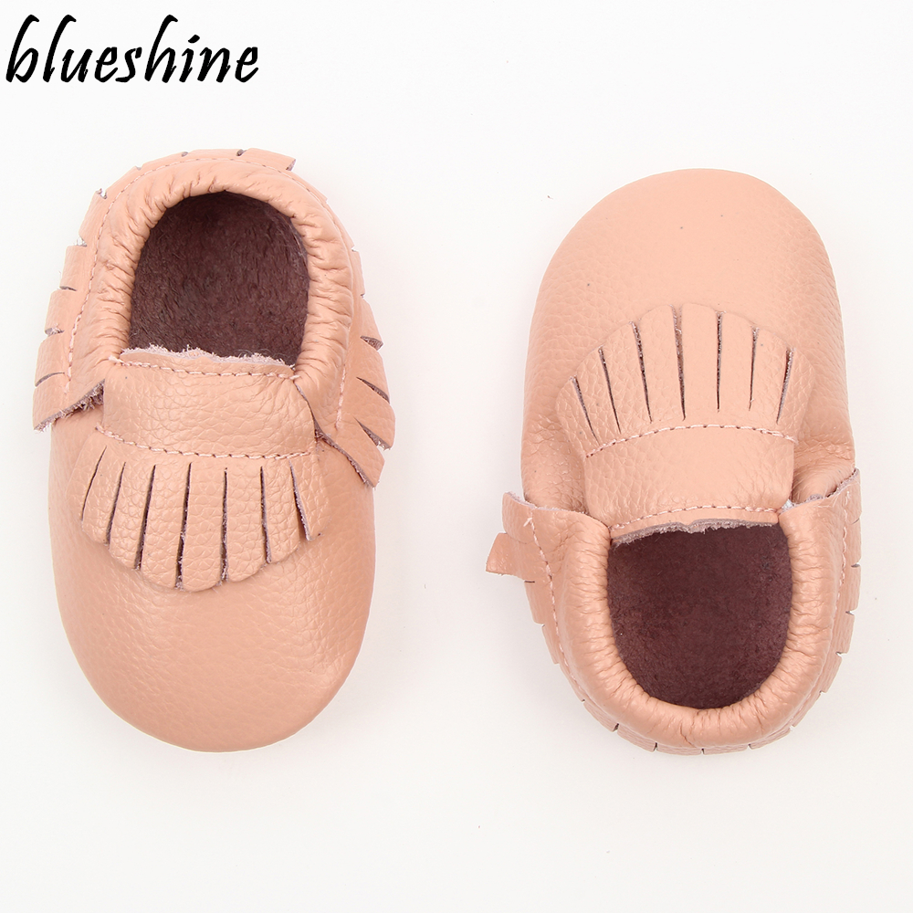 2017 New Tassels Baby Moccasins Soft Moccs Baby Boys Shoes Kids Genuine Leather Newborn Prewalker Babe Infant Shoes