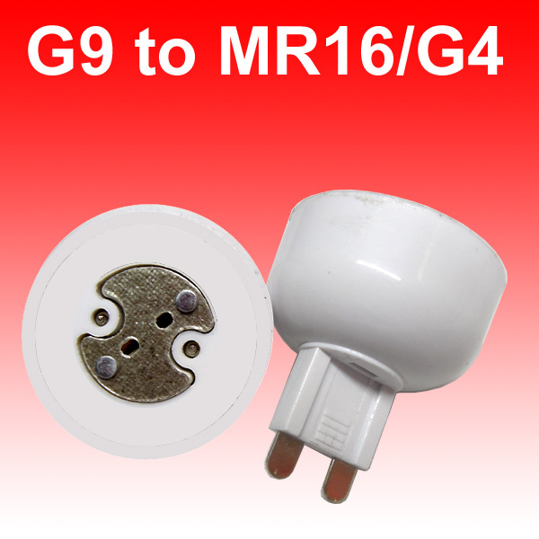 Freeshipping 10pcs/lot portable G9 led <font><b>lamp</b></font> base converter light bulb adapter <font><b>holder</b></font> G9 to MR16,G4,G5.3,<font><b>GY6.35</b></font>,G8 led socket image