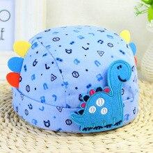 Baby Hat Children Baby Caps Cotton Unisex Girls Boys Hats Newborn Photography Props with Cartoon Dinosaur
