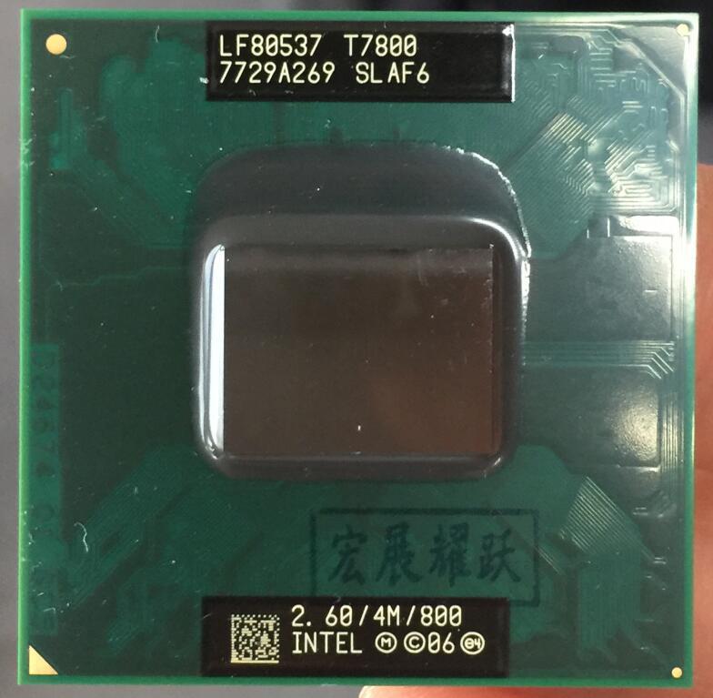 Intel core 2 duo t7800 notebook cpu processador portátil cpu pga 478 cpu 100% funcionando corretamente