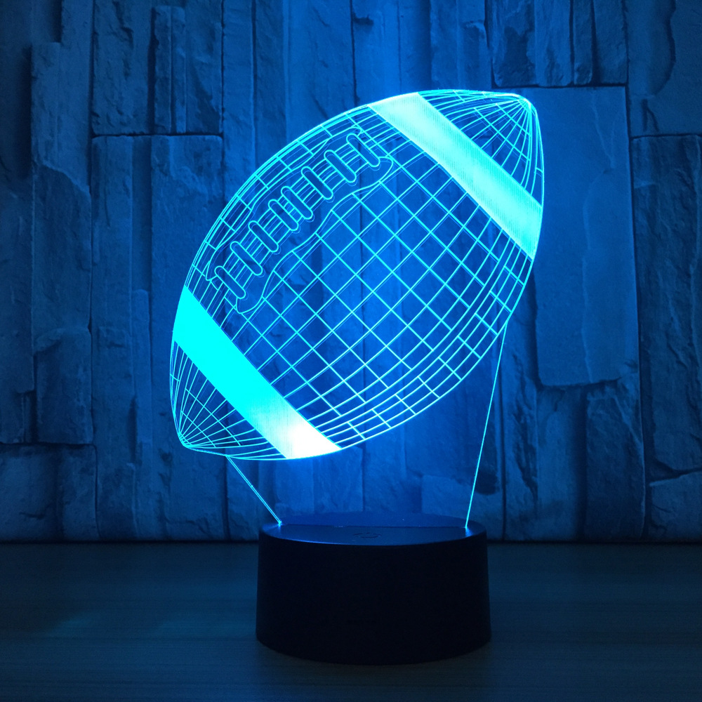 American Football Lamp 3d Led Touch Sensor Children 39 s Night Light Bed Room Atmosphere Drop Shipping Holiday Gift Bedside Lamp in LED Night Lights from Lights amp Lighting