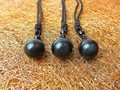 Natural Stone Pendant Necklace Black Obsidian Rainbow Eye Beads Ball Transfer Lucky Love Crystal Jewelry With Free Rope