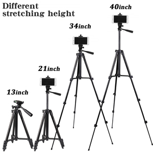 Image 2 - Mobile Phone Tripod Stand 40inch Universal Photography for Gopro iPhone Samsung Xiaomi Huawei Phone Aluminum Travel Tripode Para