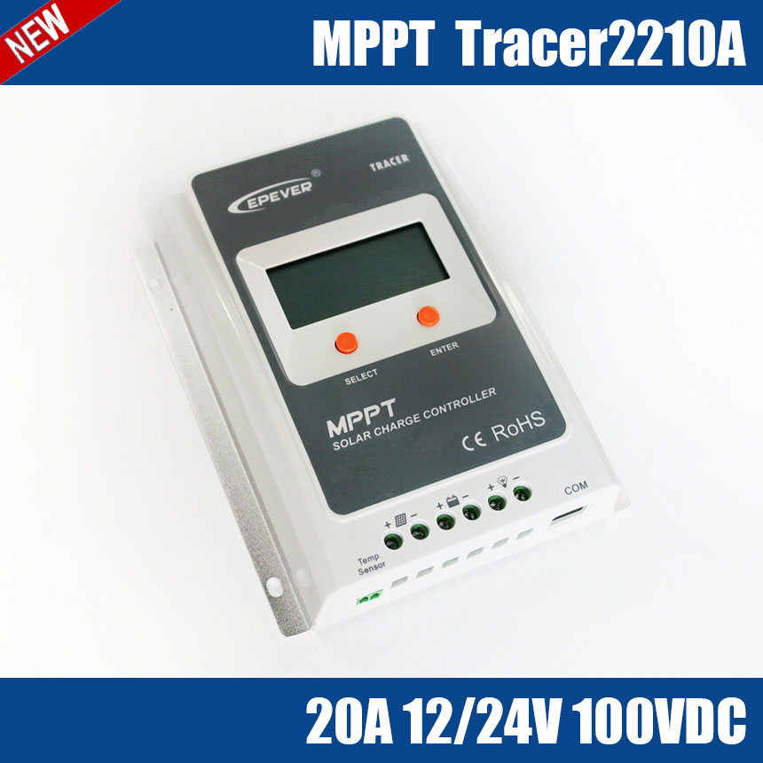 Tracer2210A MPPT 20A 100V solar charge controller package design for household, outdoor lighting, signals, wilderness monitoring