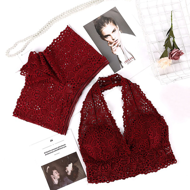 Halter Underwear   Set   Lace Sexy   Bra     Set   Push Up Seamless Women Sexy Lingerie   Bra     Set   Lace   Bra   Panty   Set