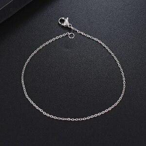 Мужские и женские браслеты-цепи DOTIFI, из нержавеющей стали золотого и серебряного цвета, для подвесок, ювелирных изделий A1221