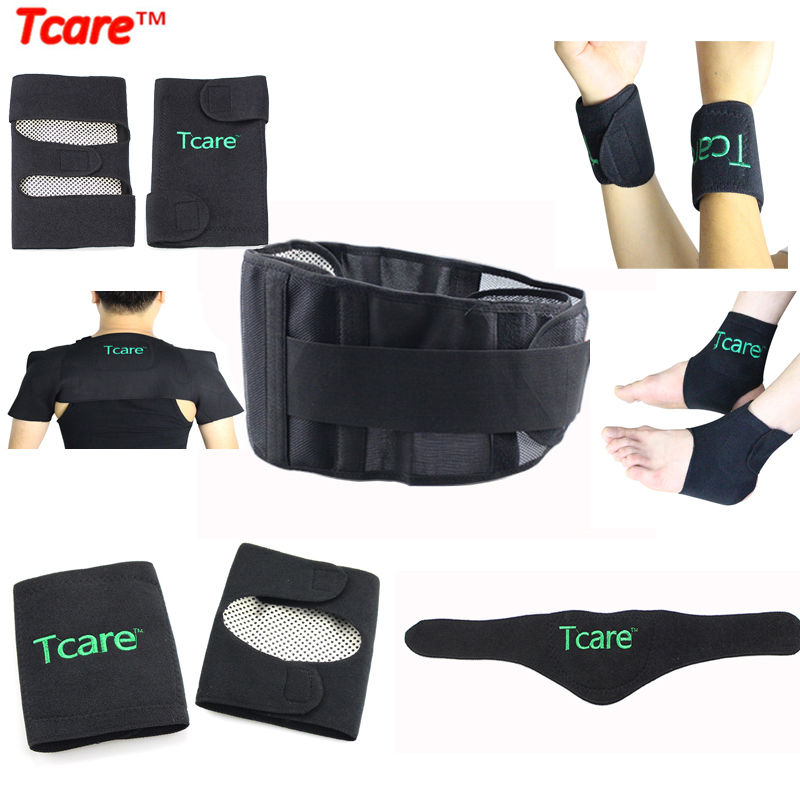 Tcare Self Heating Tourmaline Braces Magnetic Therapy Posture Waist Belt Knee Pads Elbow Ankle Wrist Neck Shoulder Brace Set winmax 6pcs set knee elbow protective pad
