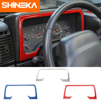 SHINEKA ABS Newest Dashboard Frame Dash Board Trim Cover Decoration Stickers For Jeep Wrangler TJ 1997 2006 Interior Accessories