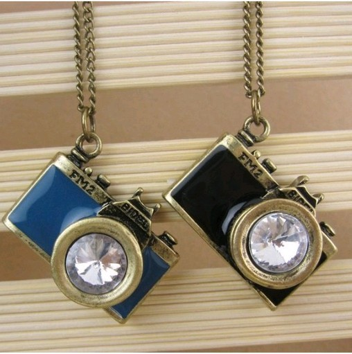 Fashion Vintage Camera Necklace Charms Jewelry For Women TJ NE010
