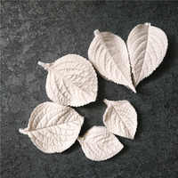 New Simulated Hydrangea Leaf Vein Patterns Silicone Mold Betonform Designer DIY Moldes Para Cemento Stampi Per Gesso Uv Mold