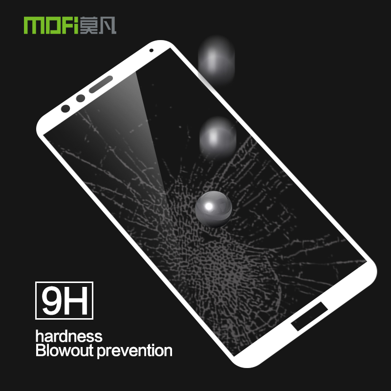 Mofi Tempered Glass Screen Protector Film For Huawei honor V10 5.7 Toughened color Protective Guard With Retail Package image