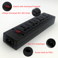 4 Ways PDU Power Strip Universal Power Strip with overload protector 4