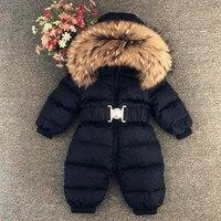 Winter Outerwear Baby Romper Kids Snowsuit Infant Overcoat Children Duck Down Jumpsuit Cotton Liner Child Coat Snow Wear Costume