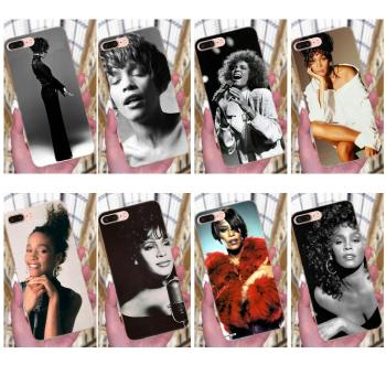 Soft Tpu Phone Case For Apple iPhone X XS Max XR 4 4S 5 5C 5S SE 6 6S 7 8 Plus Sexy Singer Whitney Houston image