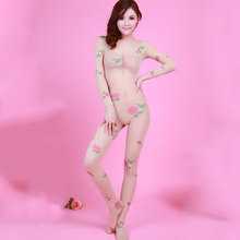 2016 New font b Sex b font Body Suit Women s Striped Rose Bodystocking Sexy Lingerie