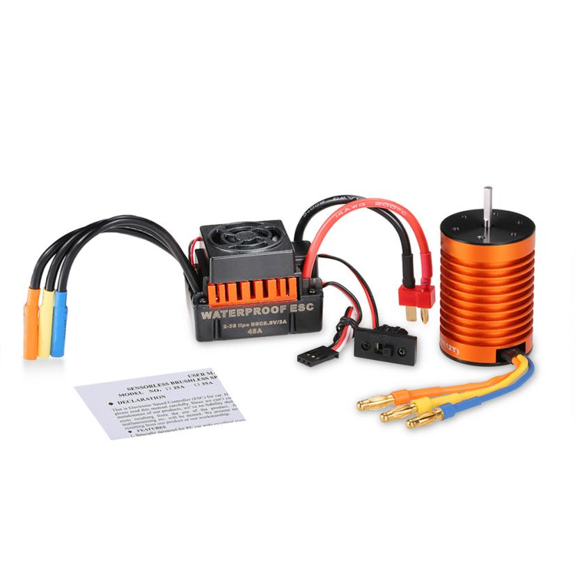 F540 3300kv Waterproof Brushless Motor With 45A ESC Combination Set To 1  10 RC Truck Z919