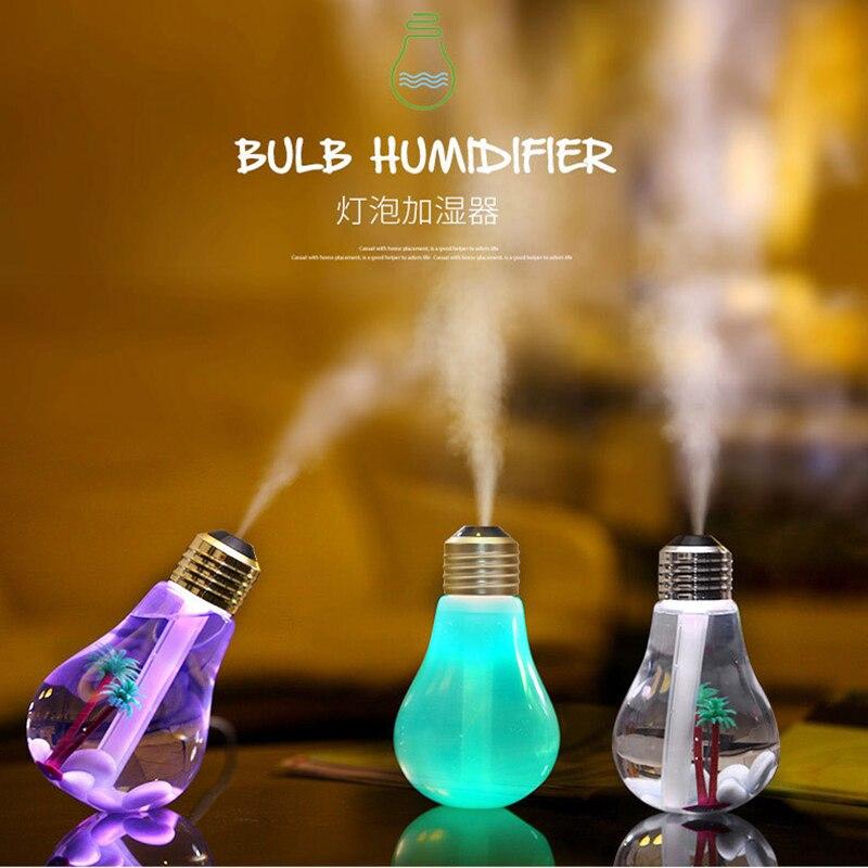 2016 Newest 400ML USB DC 5V 7 Colors Night LIght Air Ultrasonic Humidifier Air Diffuser Mist