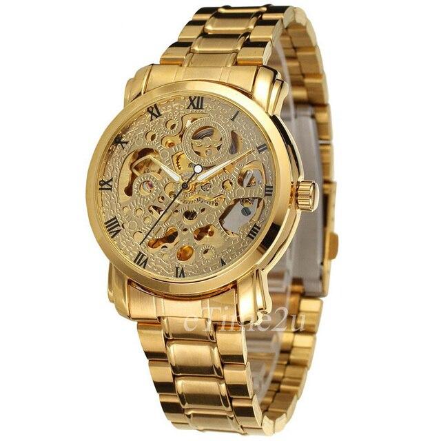 2016 VENCEDOR Marca de Relógios Mecânicos Dos Homens Relógio Automático de  Esqueleto de Aço Inoxidável Auto 08b1728780