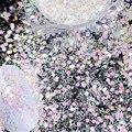 3 g/caja de Queso de Uñas Glitter Lentejuelas Mezclado Fairy Hexágono Polvo Del Brillo Brillante Polvo de Uñas de Manicura Nail Art Decoration SN29