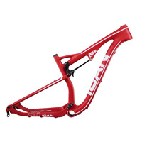 ICAN white logo 29er dual carbon frame suspension carbon mtb frames 17.5 inch available promotion price