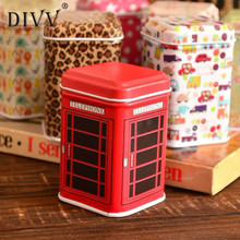 My House Hot sale Metal Candy Trinket Tin Jewelry Iron Tea Coin Storage Square Box Case drop shipping Aug9