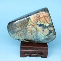 Mineral crystal specimens of natural Moonstone labradorite stone spectrum stone ornaments play teaching specimens 1