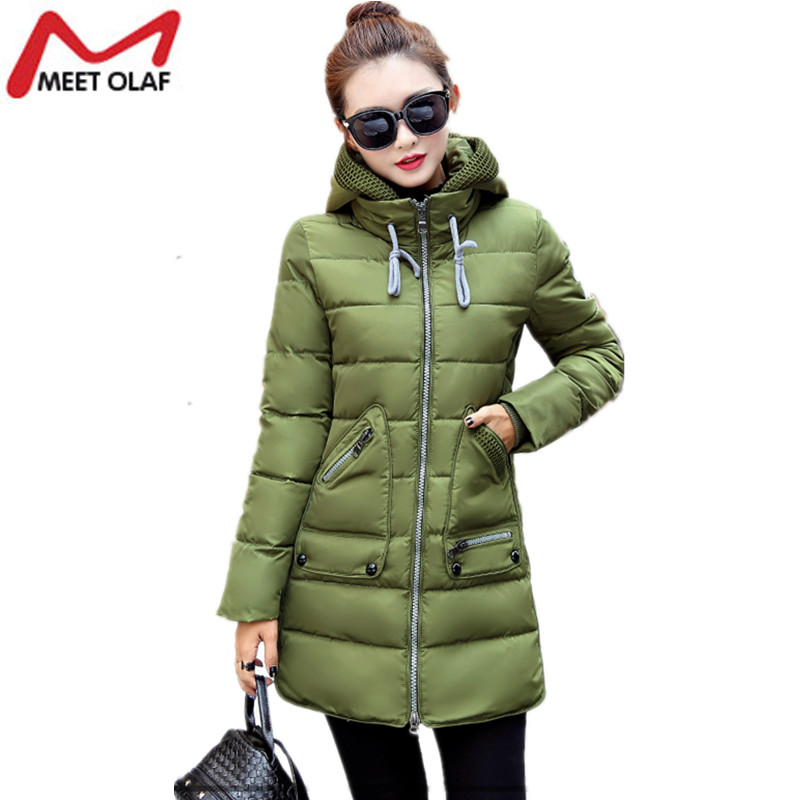Women s Winter Jacket 2017 New Long Cotton Padded Female Coat Parkas Plus Size 7XL hooded