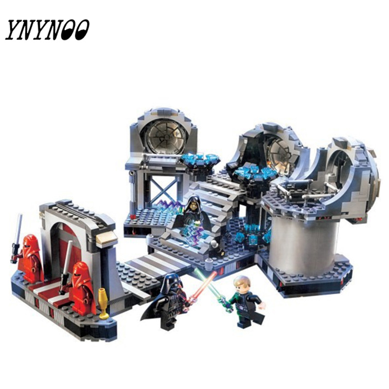 (YNYNOO)723pcs Death Star Final Duel StarWars Rogue One Building Blocks StarWars Figures Toys Brick Boys Birthday Gift 3pcs set imperial hovertank pilot death trooper shoretrooper diy figures starwars superheroes building blocks new kids toys xmas