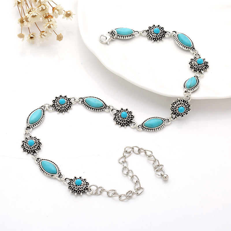2018Collar Choker Silver Necklace necklaceset jewelry for women Fashion Vintage Ethnic style Bohemia real sonteBeads neck woman in Choker Necklaces from Jewelry Accessories