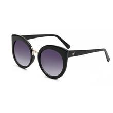 Fashion Lady Cat Eye Vintage Coating Eyewear Luxury Oversized Brand Designer Sun Glasses Women or anti-UV Sunglasses de sol d