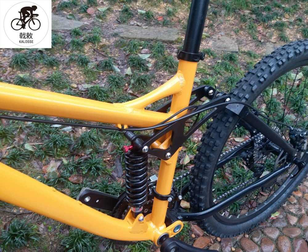 Kalosse гидравлические тормоза велосипедные шины полная подвеска рама из алюминиевого сплава, Bicicleta горный велосипед 26,24 скорости
