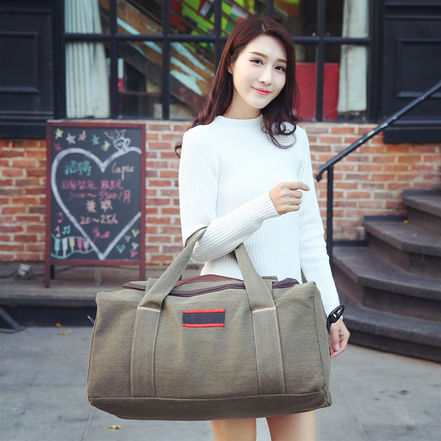 VAMONOS Travel Bag Big Capacity Men Hand Luggage Travel Duffle Bags Canvas Weekend Bags Multifunction Travel Bags