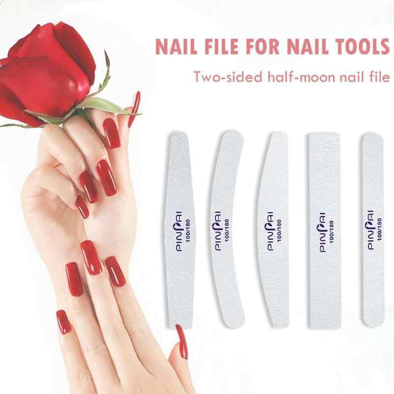 Pro lime à ongles ponçage bloc tampon pédicure manucure frottement polissage ongles outils de beauté Double face lime à ongles manucure d210