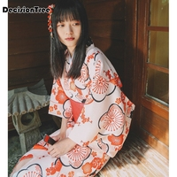 2019 new japanese yukata robes kimono pajamas sets warm thickening cotton bathrobe pyjamas loose style sleepwear leisure love