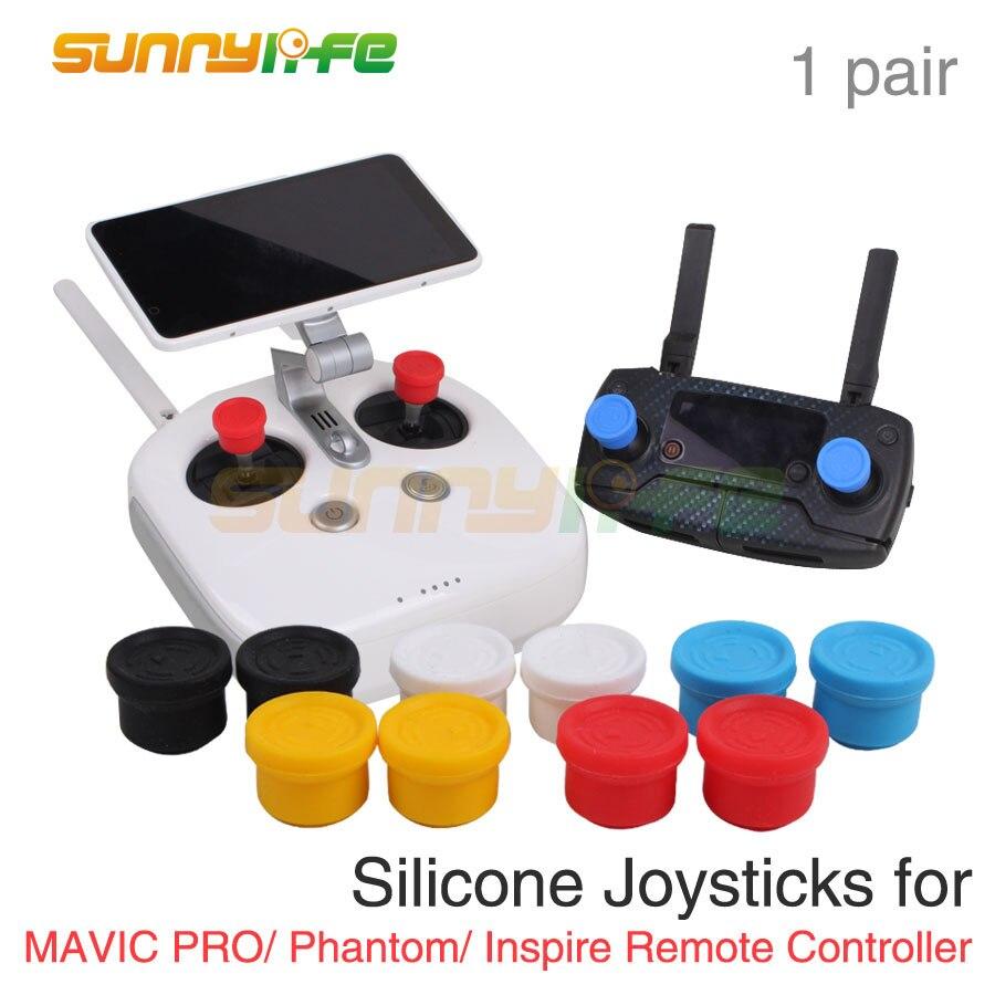 리모콘 조이스틱 DJI SPARK Mavic Pro 팬텀 4 PRO + V2.0 용 실리콘 엄지 로커 3 Inspire YUNEEC Q500 H480