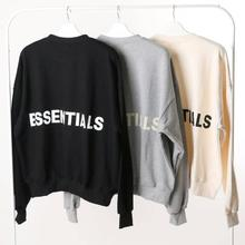 Qoolxcwear 2019 moletom moletom com capuz masculino/feminino kanye west nevoeiro solto ovesimed hoodies essentials hip hop camisolas de algodão