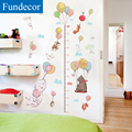 [Fundecor] diy cartoon balloon animal children height wall sticker for kids rooms nursery bedroom wall decals vinly home decor