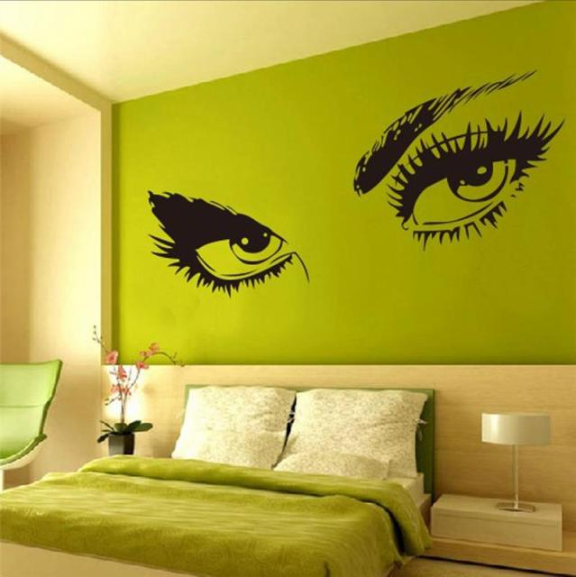 Audrey Hepburn sexy eyes wall stickers living room decorative 8024 ...