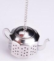 Free Shipping Octagonal Water Bottle Kettle Shape Tea Set Stainless Steel Tea Device Strainer Ball Tea