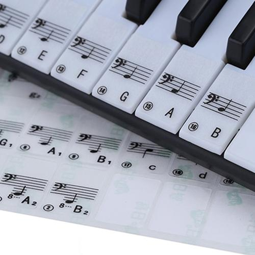 Transparent 61 Key Electronic Keyboard Stickers 88 Key Piano Stave Note Sticker